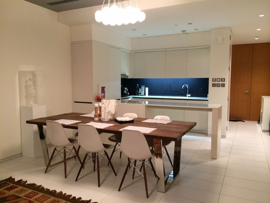 Dining area and kitchen