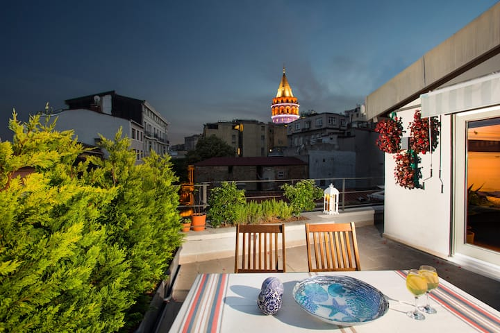 Your colorful, stylish & new Penthouse w Terrace
