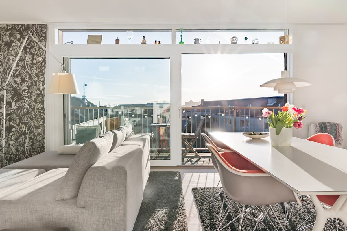 Enjoy vibrant Copenhagen from a Sunny Penthouse
