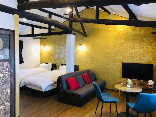 Bed & Living room - 2nd floor