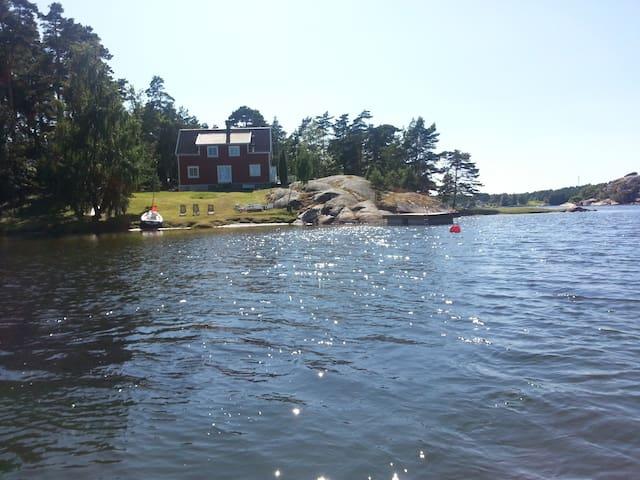 Hytte med strand på Hvaler - Hvaler - Cabin