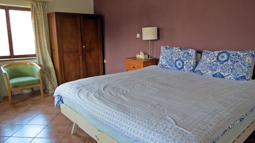 LARGE MOUNTAIN VIEW ROOM! Close to Most na Soci - Logaršče - เกสต์เฮาส์