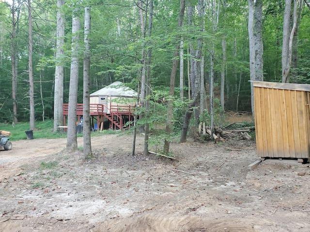 Yurt Family get away on the lake!
