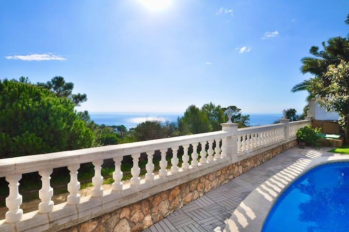 Villa Rental - Desire, sea view, pool, 500m from the beach
