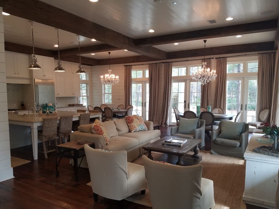 Wonderful large open concept first floor
