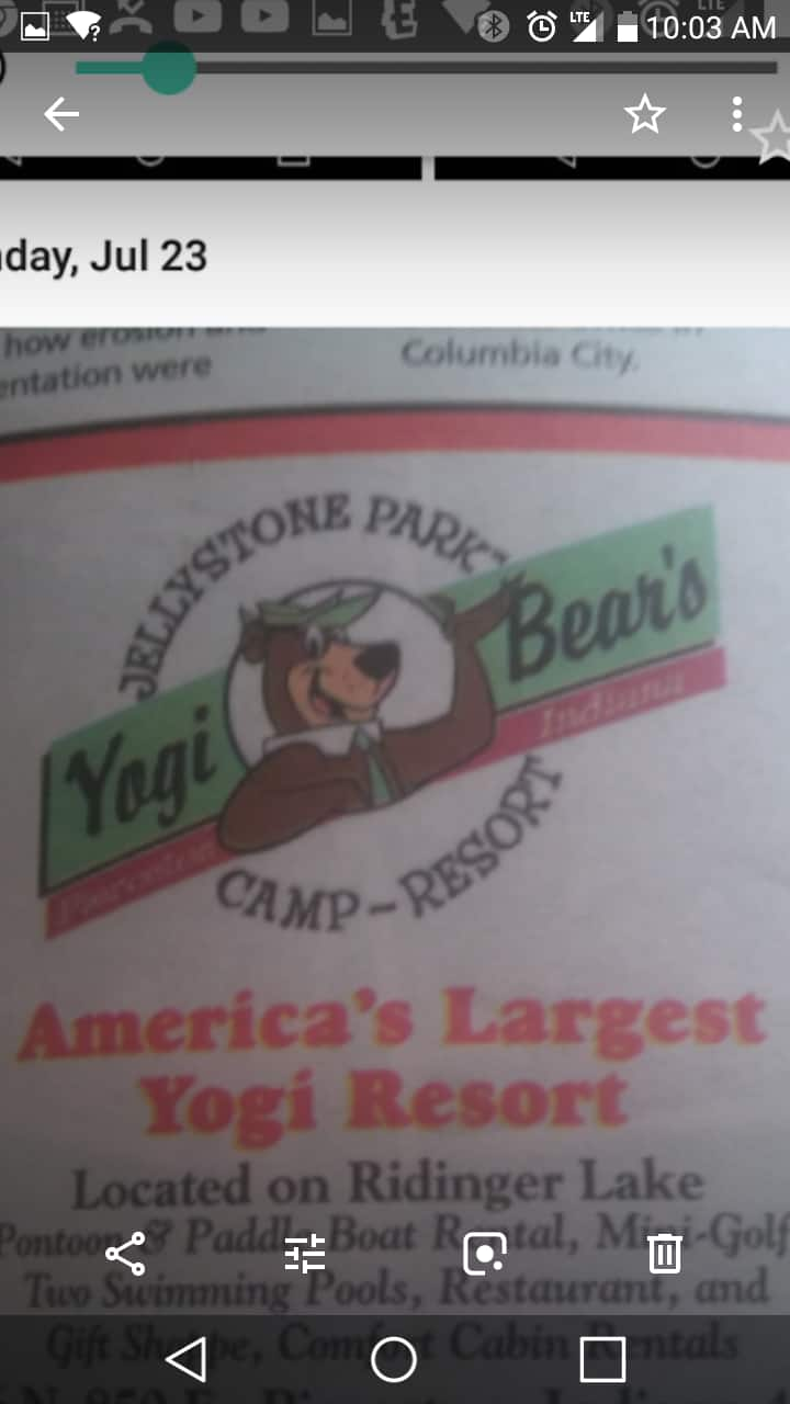 L.p.Jellystone park/yogi bear resort pierceton,In.