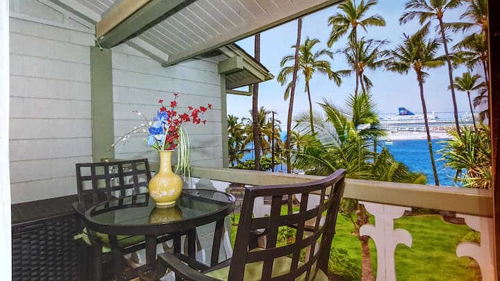 Across from Beach! Downtown Kona Islander + HI tax