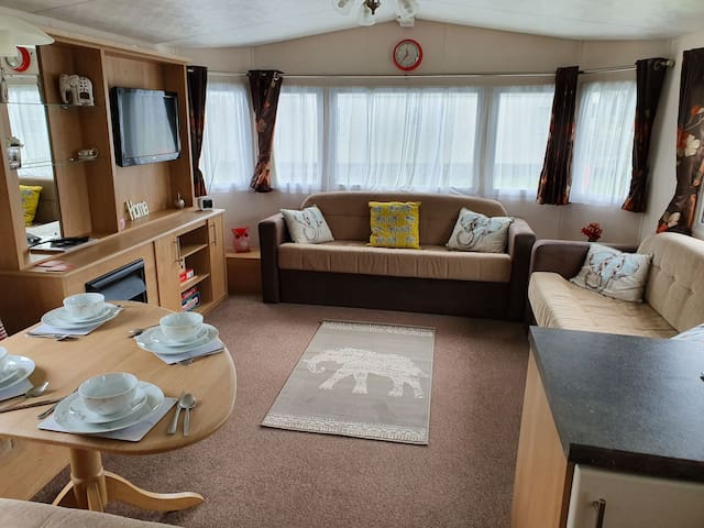 Spacious lounge includes bed settee