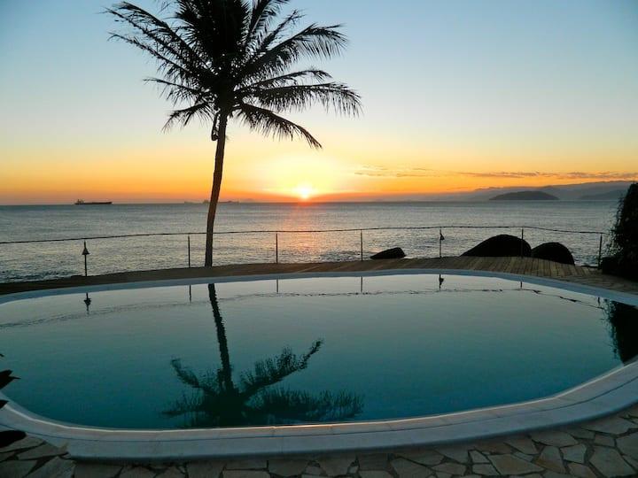 charming bangalow at the seashore, sea view