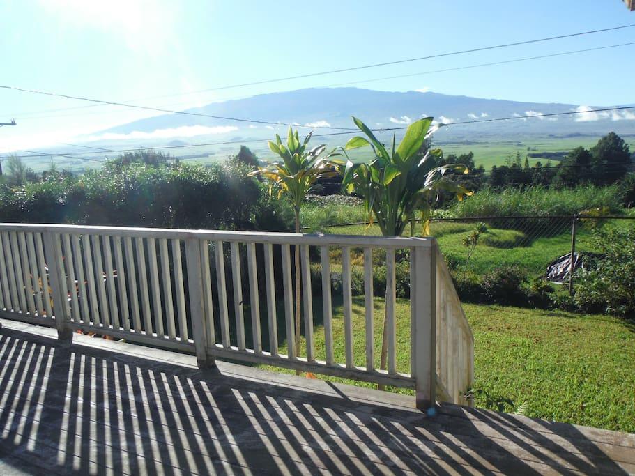 Mauna Kea and Mauna Loa views.