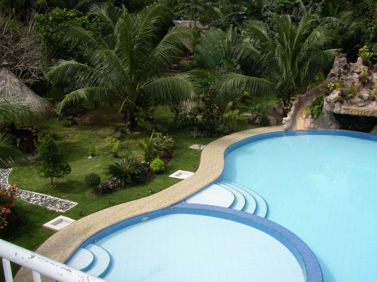 The pool in front of your guesthouse and room.
