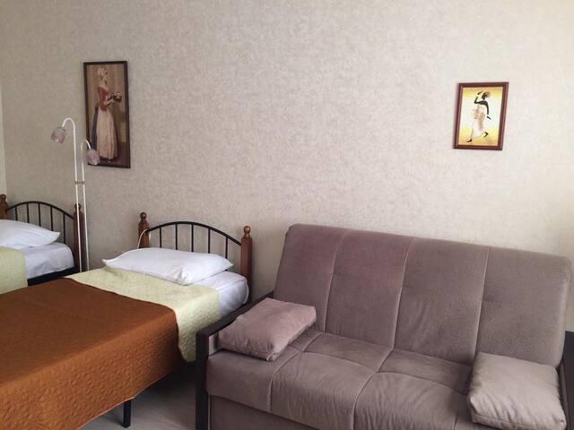 апартаменты на 23 этаже в Шушарах