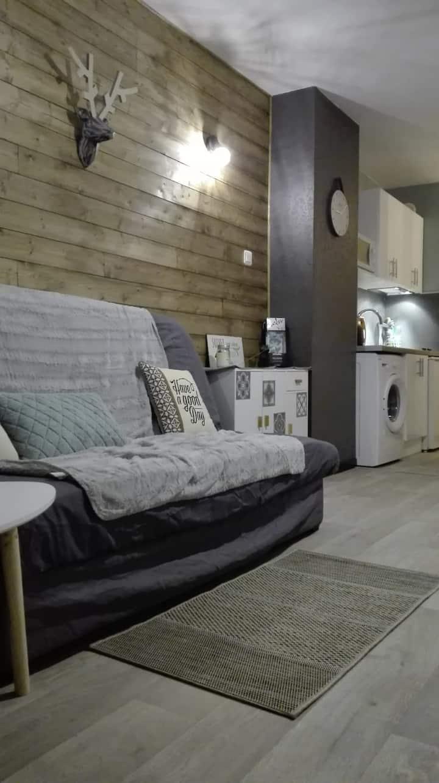 appartement chaleureux avec vue sur les montagnes