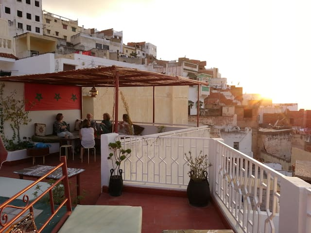 Terrace views of Volubilis - Moulay Idriss - Bed & Breakfast