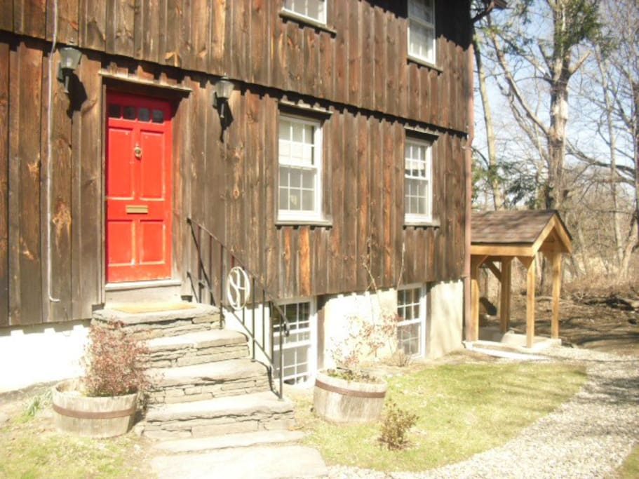 The barn with King Suite private entrance at right