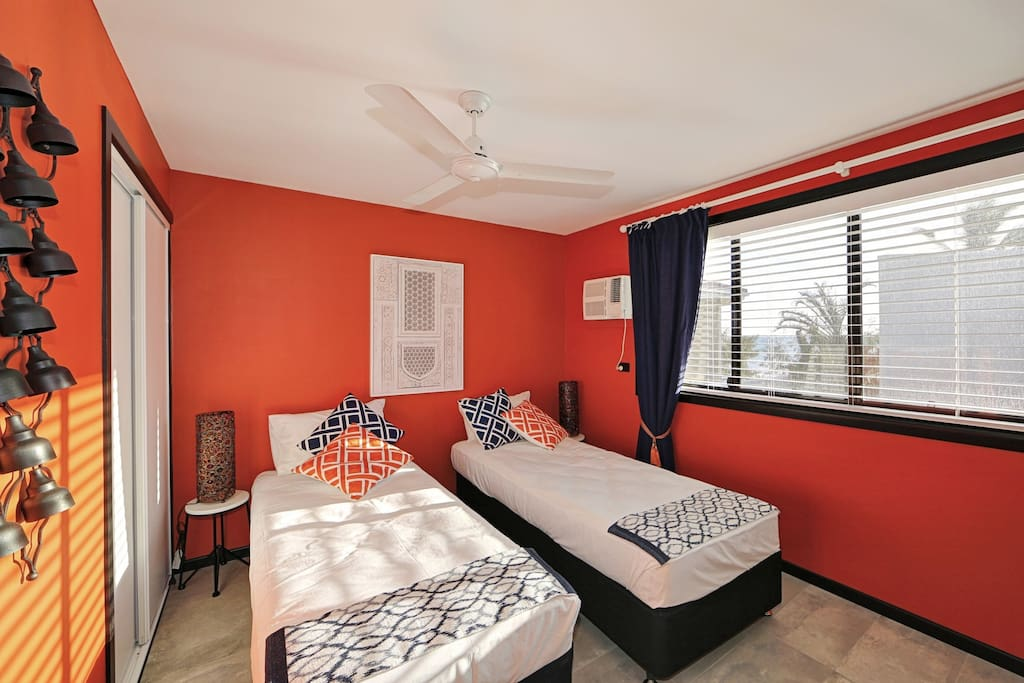 Everyone who visits ZEN is in awe of the Sunburst Orange in the Main bedroom...with some sea views this must be the most energetic way to wake up to a new day, bounce out of bed and head down to the beach for your wellness activities....what a way to start your day in ZEN!!