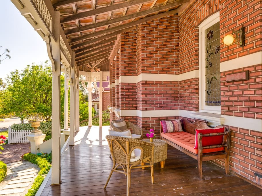 Enjoy the tranquility of a quiet drink on the front verandah.