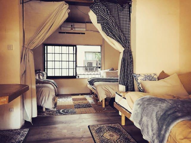 Tolotolo*The cozy Hostel near Osaka castle (~3bed)