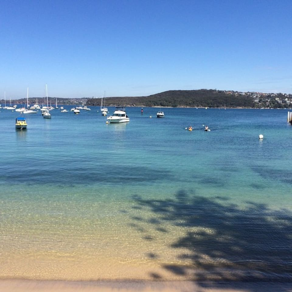The spectacular Manly Cove. 2min from the the property with Manly beach minutes walk away