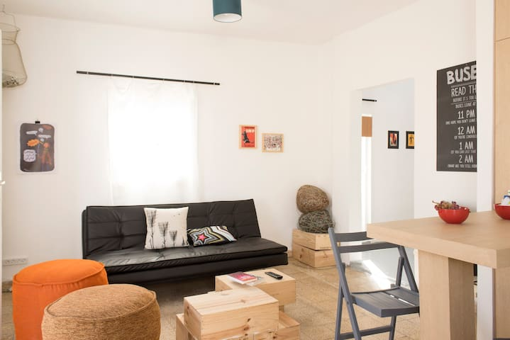 Furnished in a bright, modern and funky style, the studio makes you feel right at home.
