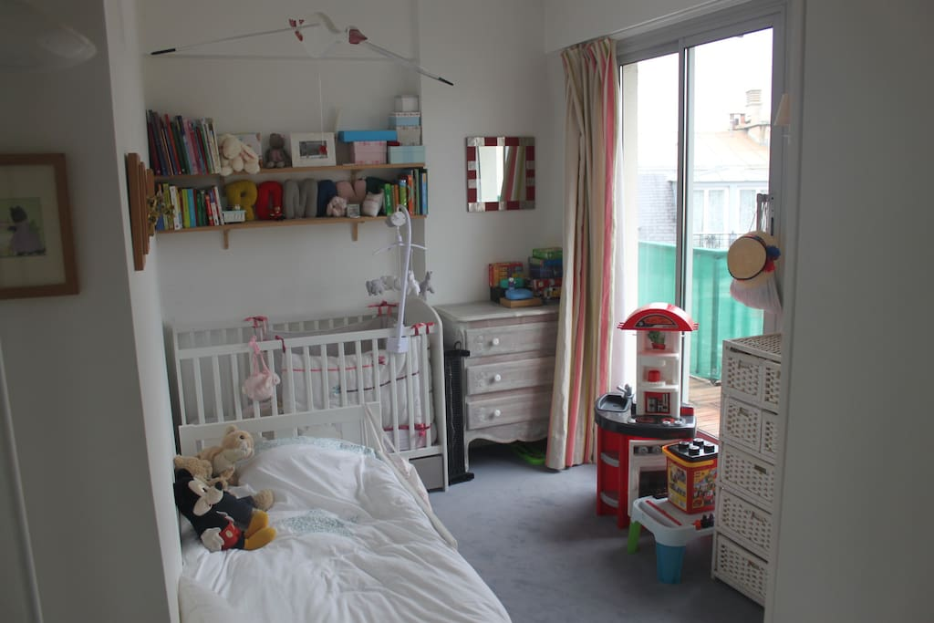 Bedroom for children: 1 bed for a kid, 1 bed for a baby (extra bed for baby available)