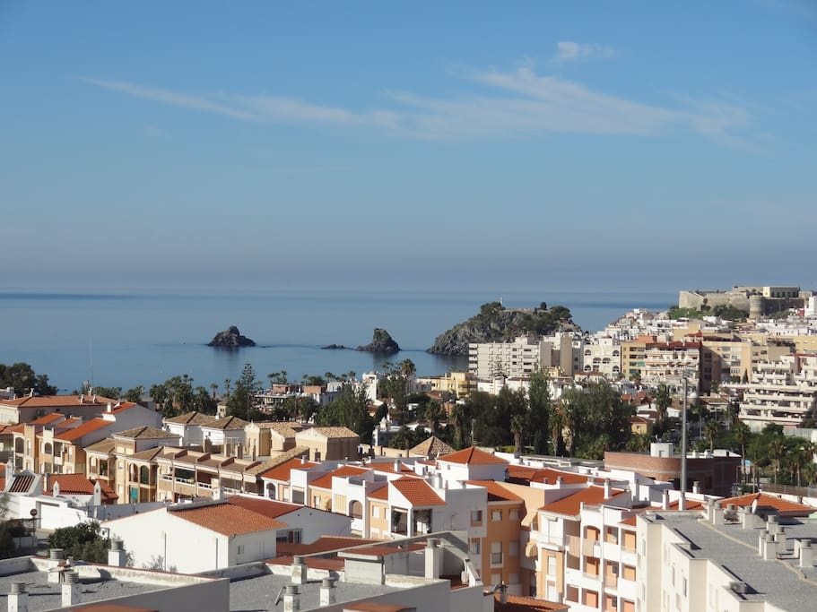 Panoramic views over the town and the sea