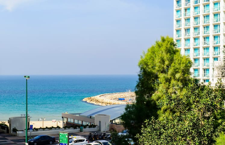 Full Beach View! Large Sun Terrace - Tel Aviv - Apartemen