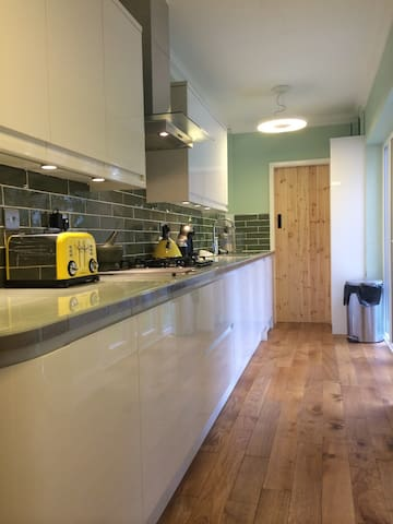 The kitchen is at your disposal, and there is a supermarket within easy walking distance.