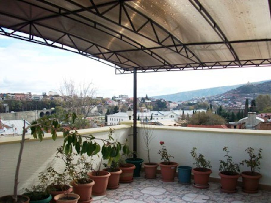 Roofed Veranda will let you enjoy Tbilisi nights no matter the weather.