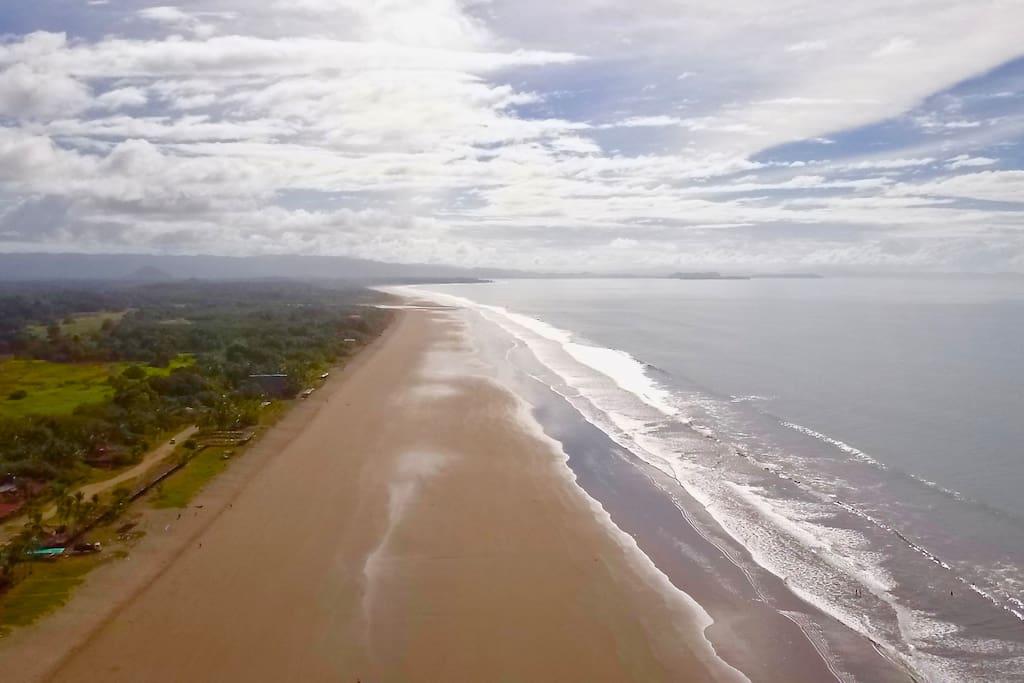 Playa Las Lajas, a 15 km long pristine beach