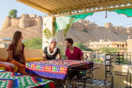 Stay in city center front of Jaisalmer fort