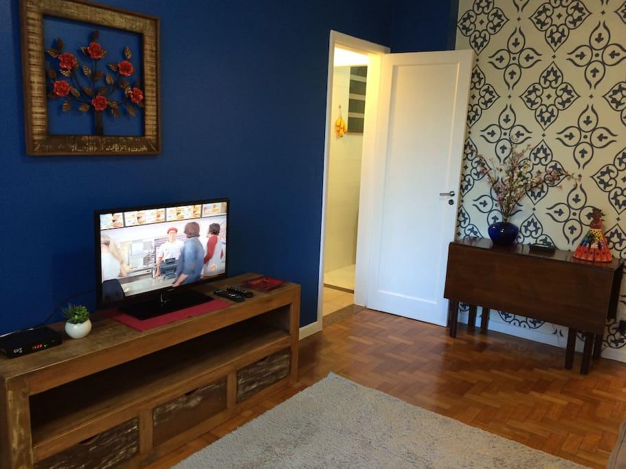TV a cabo, internet WiFi 4G, tranquilo e confortável!