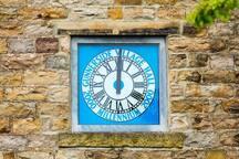 Gunnerside village clock.