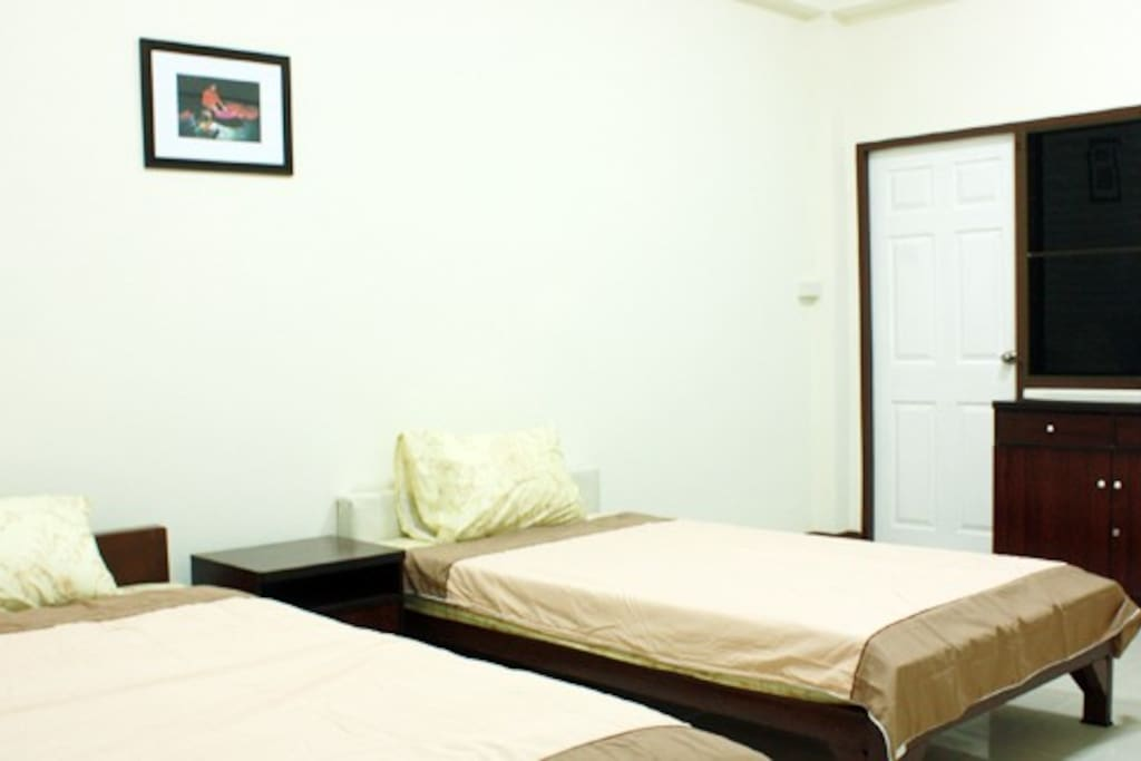 This is one of our Double rooms with air-conditioning to keep you nice and cool during the heat of the day! Very comfortable and very clean too!
