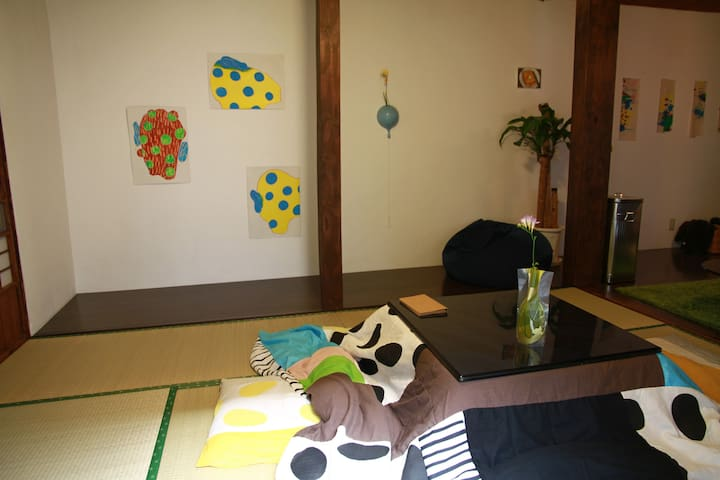 A table changes Kotatsu in winter season. (October   to May)