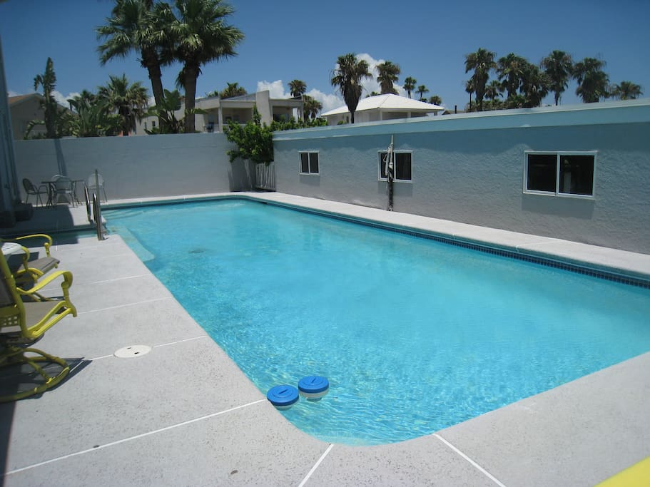 Back Patio and pool area