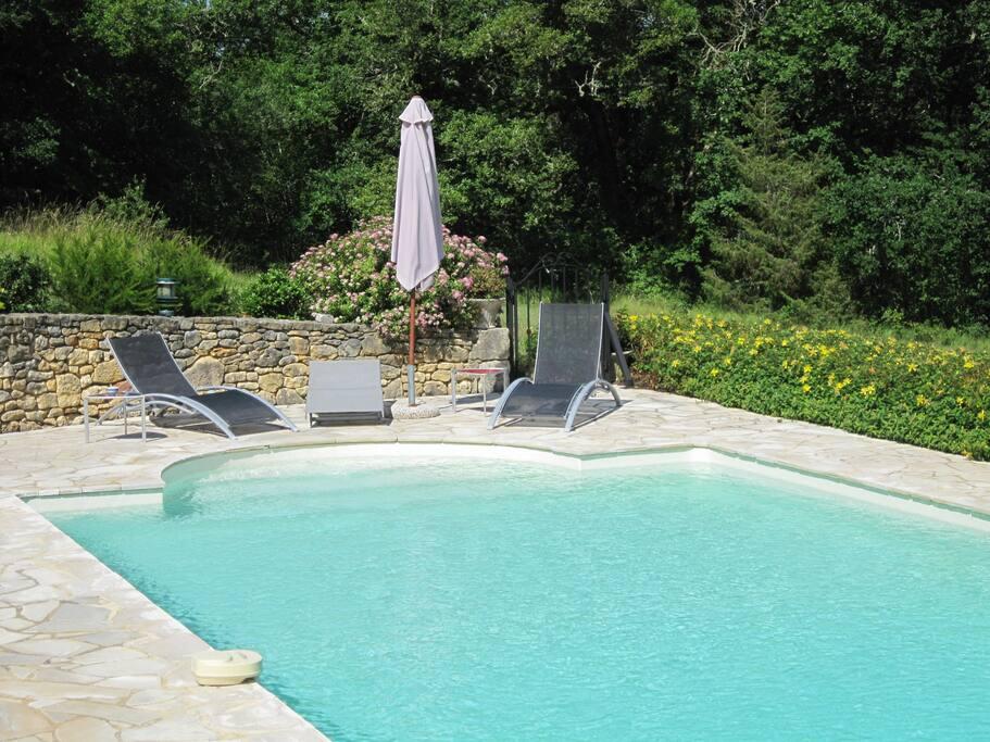grande piscine privée 10x5