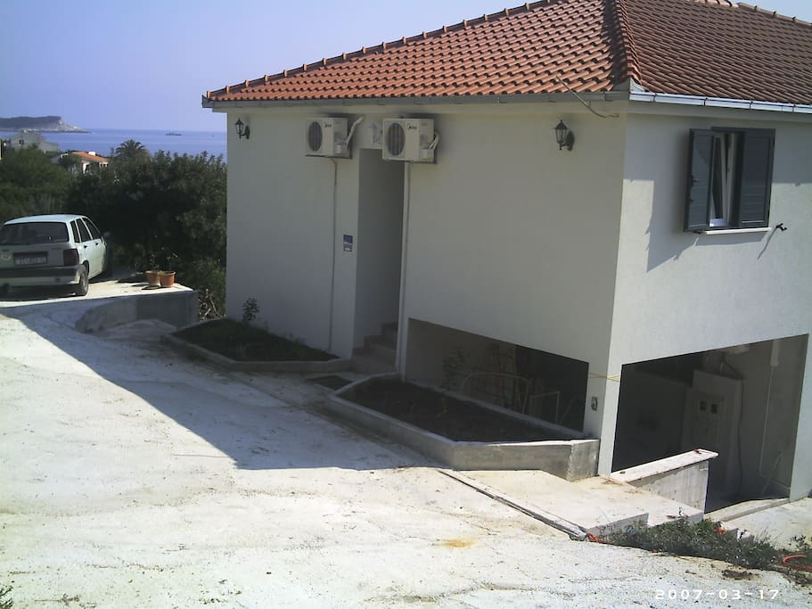 Parking in front of the house