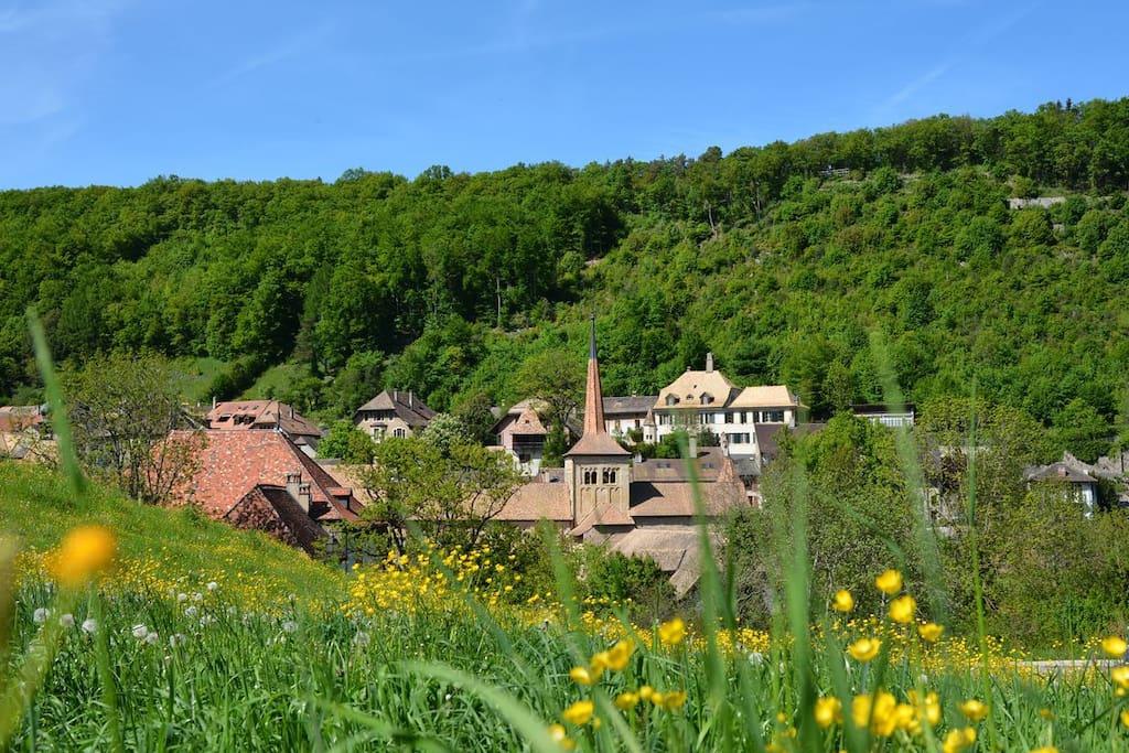 L'abbatiale de Romainmôtier est l'une des plus anciennes églises romanes de Suisse