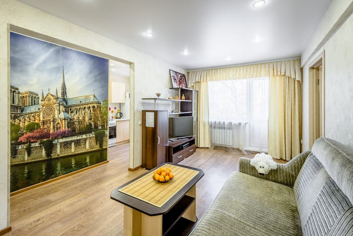 Angara Lux Apartments two-roomed flat