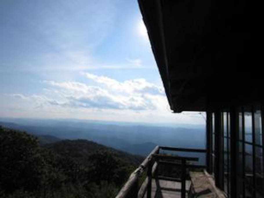 View of the mountains to the west from High Knob fire tower. 360 degree view of the entire valley. (this is a local hike that is a 15 minute drive away and then a 1.5 mile hike to the top of the fire tower).