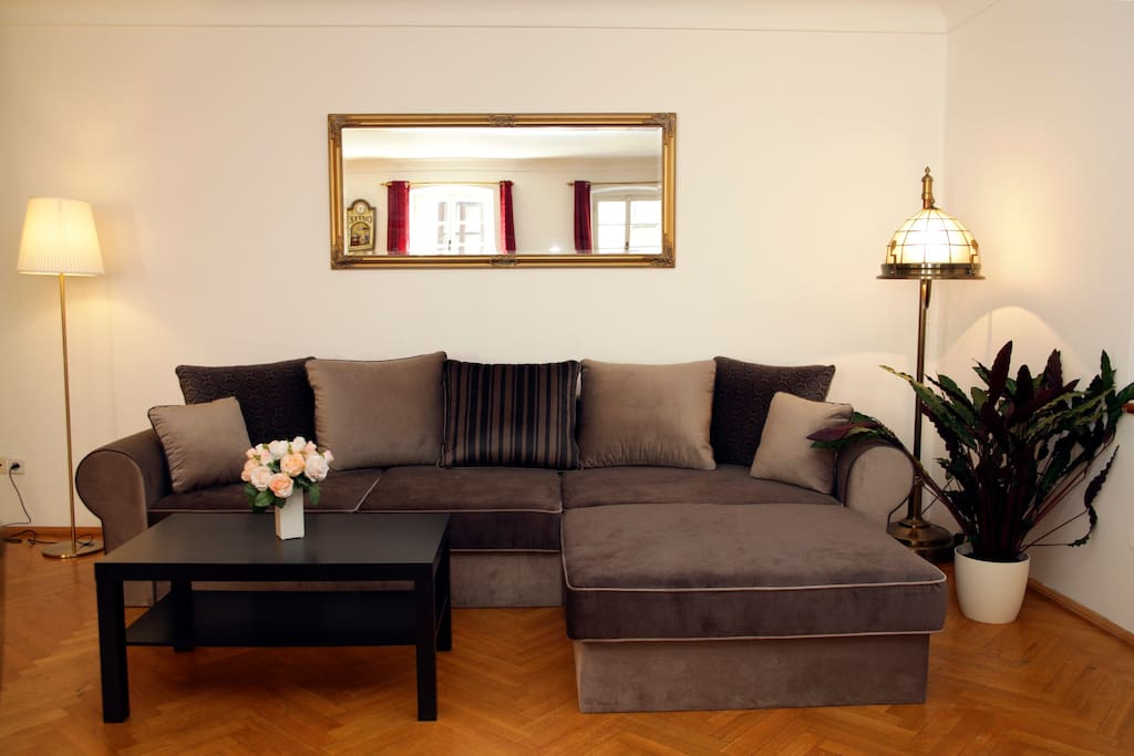 Living Room (Sofa can be used as double bed)