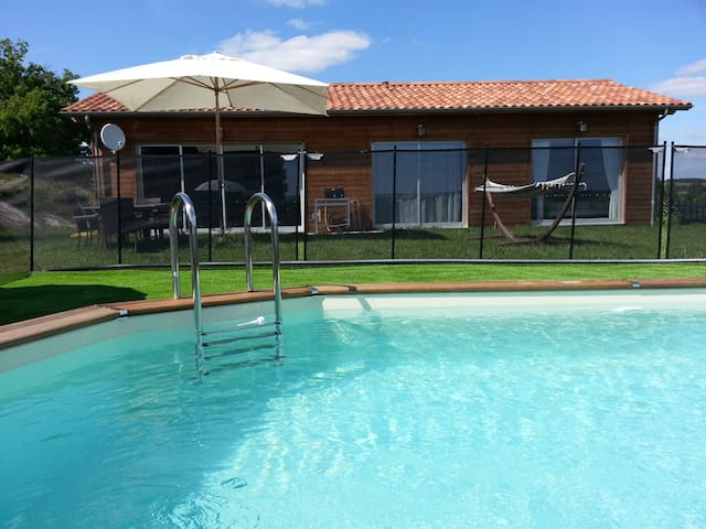 Villa 3ch confort, piscine chauffée, spa Bergerac