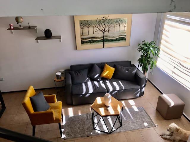 Habitación privada con terraza y baño propio