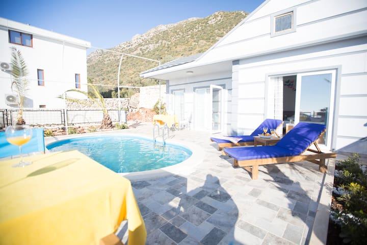 1 Bedroom,Jacuzzi,Sea View,Halal Villa - Kalkan Belediyesi
