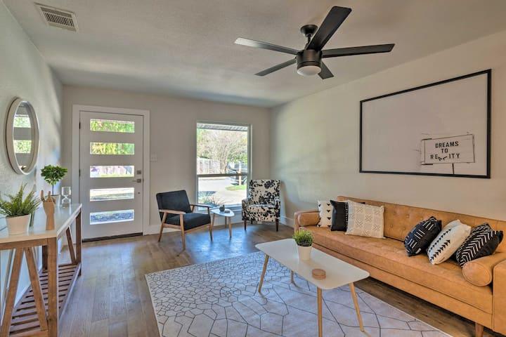 NEW! Trendy Home w/ Deck & Yard, 6 Mi to Downtown!