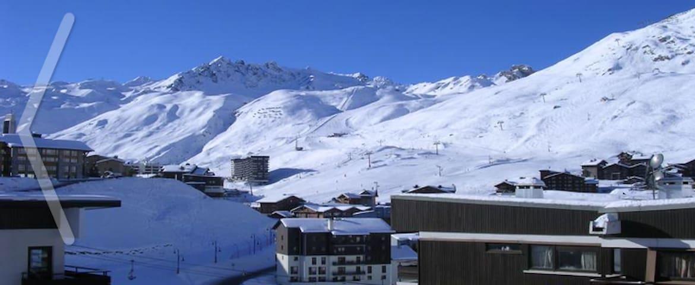 Vue panoramique face au sud en hiver.