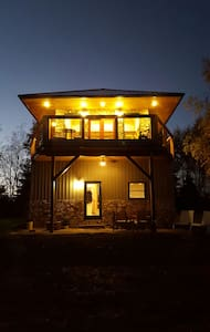 Modern firetower chalet with majestic views - Bloomsburg - 牧人小屋