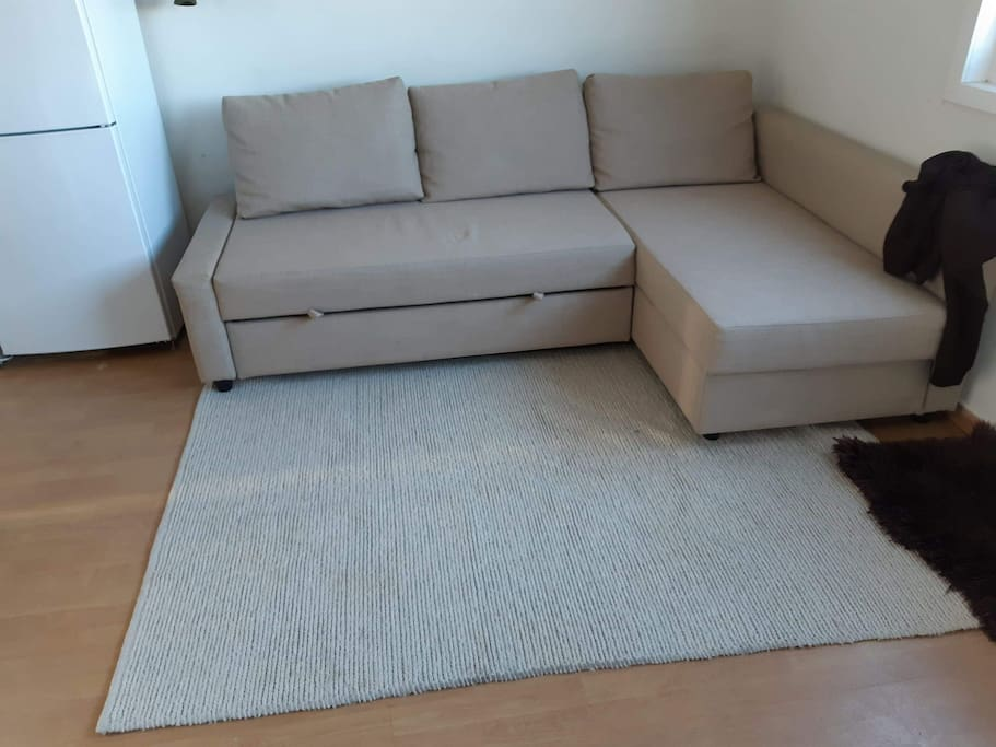New sofabed in livingroom