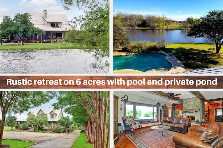 Picturesque, Peaceful Getaway (6 Acres/Pool/Pond)